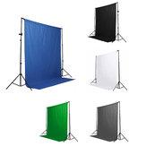 Zwart Wit Blauw Groen Chromakey Achtergrond 6x9 Mousseline Video Achtergrond