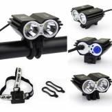 2xCREE  U2 LED Cycling Bike Headlight Headlamp Front Light