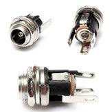 5.5mm X 2.1mm DC Power Supply Logam Jack Audio Socket Dengan Nut Dan Washer