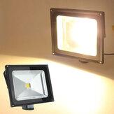 50w quente branco 4200lm pir movimento segurança do sensor de luz de inundação 85-265V