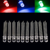 10pcs 5mm RGB LED Common Cathode 4-Pin Tri-Color Emitting Diodes F5
