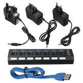 Usb hub port 7 3.0 interruptor on / off + UE / EUA / adaptador de energia ac uk