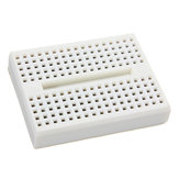 10Pcs White 170 Holes Mini Solderless Prototype Breadboard For