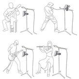 العالمي موسيقى ميكروفون Stand Holder جبل غطاء ل iPad 2 3