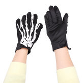 Fashion Halloween Skeleton Ghost Demon Elastic Skull Gloves
