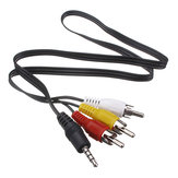 3,5 mm jack aansluiting op 3 RCA-adapter kabel audio videokabel