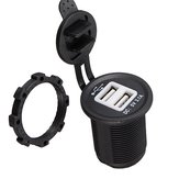 12-24V USB Port Car Motorcycle Power Socket Spliter Charger Adapter