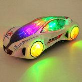 3d super-car elettrica del giocattolo con le luci lampeggianti ruota