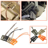 Plastic Webbing Clip Elastic Cord Cable Tidy Strap Hang Buckle Roll Wire