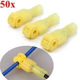 Excellway® TC01 50-teiliger gelber Schnellverbinder für Kabelschuhe