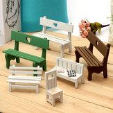 Mini-banc de résine micro paysage décorations de jardin décoration bricolage