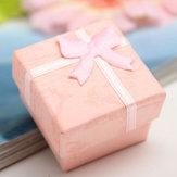 Bow Ohrring Ring Anhänger Schmucksache Anzeigen Geschenk Kasten quadratische Gehäuse