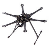 S550 Hexacopter Frame Kit RC Drone FPV Racing Multi Rotor With Integrated PCB 550mm Black