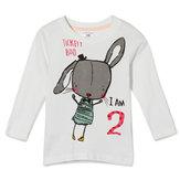 2015YeniKüçükMavenYazBebek Kız Çocuk Tavşan Beyaz Pamuk Uzun Kollu T-shirt