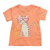 2015 nouveau t-shirt à manches courtes en coton orange maven bébé fille