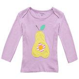 2015 nuovi bambini poco esperto di estate della neonata pera t-shirt a manica lunga in cotone viola