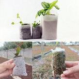 هونانا هغ-غب 100 قطع الأقمشة غير المنسوجة النباتات الشتلات أكياس تحلل حقيبة تربية