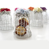 Bird Cage Wedding Candy Candy Box Party Gift Pudełka cukierków Chocolate Flower Metel Box