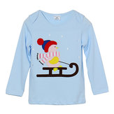 2015 New Little Maven Lovely Snowman Baby Children Boy Cotton Top z długim rękawem