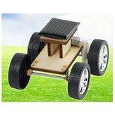 DIY Solar drewniany samochód zabawka edukacyjne montaż modelu dla dzieci