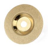 100mm x 16mm Diamond Slijpschijf Hardlegering Gouden Polijstschijf