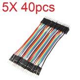 5X40pcs 30cm Erkek - Erkek Renk Hamur Tahtası Kablo Atlama Tel Jumper RC Modelleri için