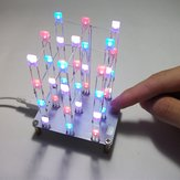 Geekcreit® DIY C51 Touch Control 3x3x4 Color LED Light Cube Kit
