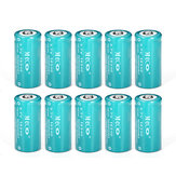 10PCS MECO 3.7v 1200mAh Reachargeable CR123A / 16340リチウムイオン電池