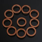10pcs M10 Standard Copper Motorcycle Braided Clutch Brake Hose Washers Enhancement