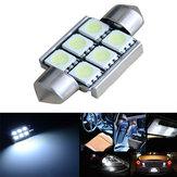 36mm Festoon 5050 6SMD Canbus sem erros branco para carro LED Dome Luz da porta de leitura
