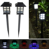 2pcs jardim oriental LED lâmpada de quintal gramado ao ar livre solar, luz decorativa