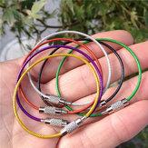 Rimix pvc en acier inoxydable isolés au caoutchouc overstretches cercle de fil Porte-clés porte-clés coloré