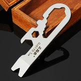 Sanrenmu GJ017D Mini Çoklu Aletler Kit Tırnak Çektirme makinesi Somun Anahtarı Açıcı Anahtarlık