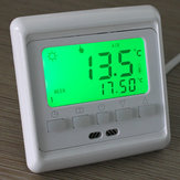 LCD Button Programmable Underfloor Heating Room Thermostat Floor Heating Control 0-35°C