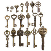 19pcs Antique Vintage alte Blick Skeleton Key Set Lot Anhänger Herz Bow Sperre Steampunk Jewel