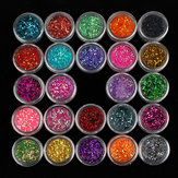 Diamond Glitter Powder Slice Nagel Art Tip Decoratie 24 kleuren