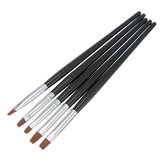 5Pcs Tiny Nail Art Acrylic UV Gel Pen Painting Flat Brush Set Tool