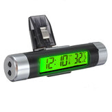 LCD-Clip-on Digital-Hintergrundbeleuchtung Automotive-Thermometer-Taktgeber Calenda