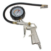 Tire Inflator Dial Pressure Gauge Air Compressor For Car Motorcycle Truck Bike