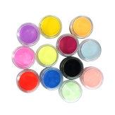12 Renkler Tırnak Sanat İpuçları Akrilik 3D UV Jel Toz Tozu