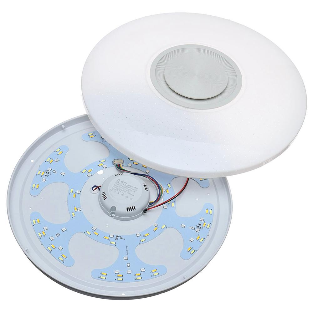 80W Modern Dimmable LED RGB Bluetooth Music Ceiling Light APP Remote Control - 5