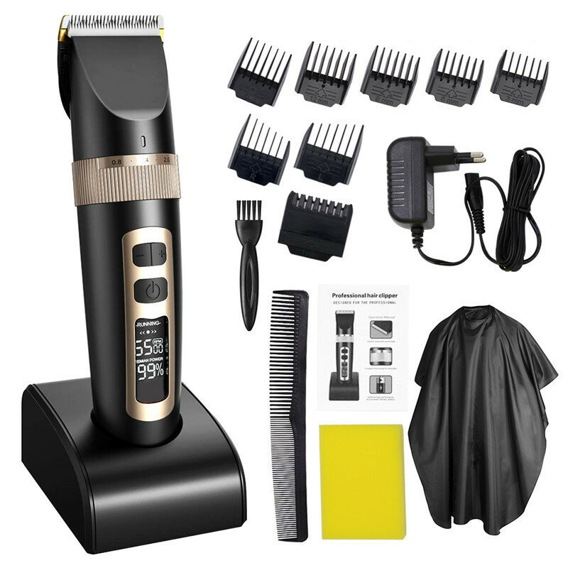 12W Electric Hair Trimmer Clipper Kit Haircut Professional Cutting Machine Tools - 1