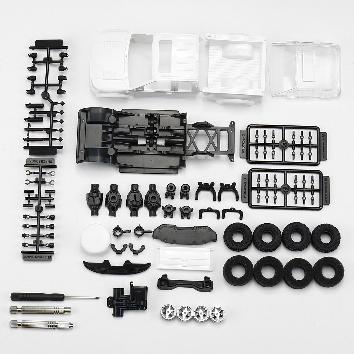 Orlandoo Hunter OH32X01 1/32 4WD DIY Frame RC Kit Rock Crawler Car Off-Road Vehicles without Electronic Parts - 7