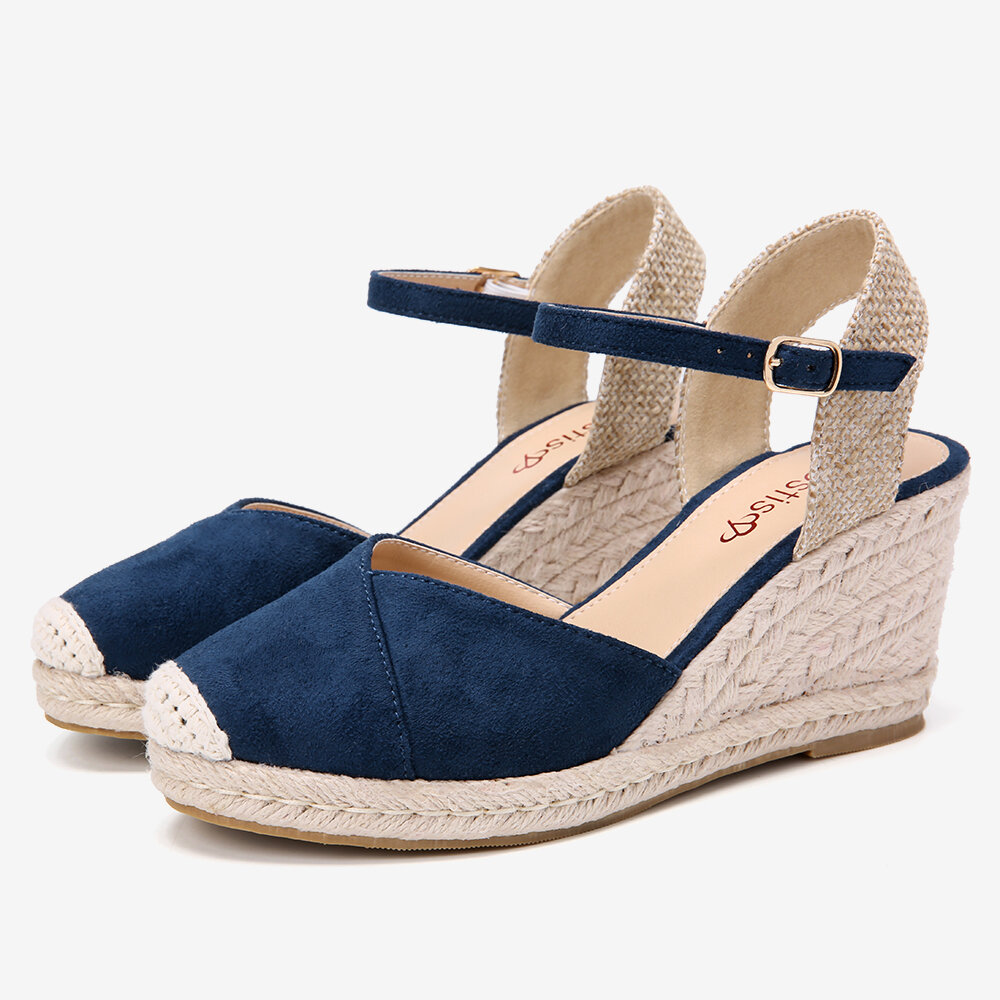LOSTISY Women Hollow Out Breathable Casual Comfy Backless Flats Sandals - 5