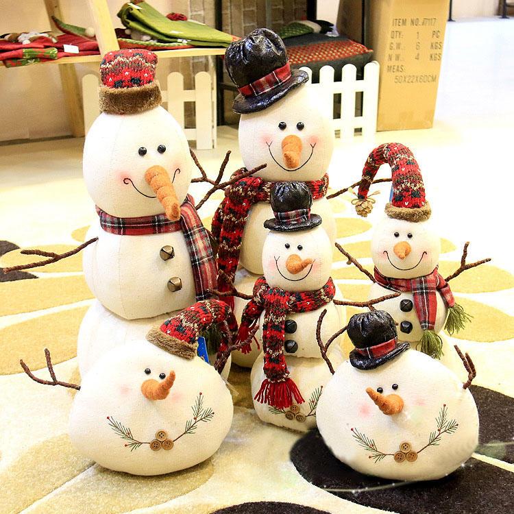Muñeco de muñecas de muñeco de nieve de Navidad 2017 Adorno Mesa Decoración de escritorio Regalos de Navidad para niños - 2