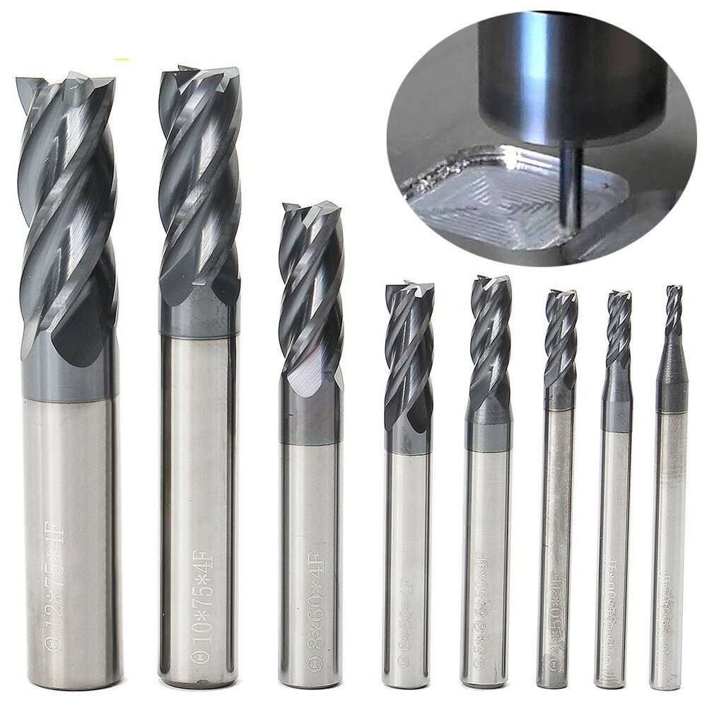 Drillpro 60 Degree 40-60mm HSS Straight Shank Dovetail Groove Slot Milling Cutter End Mill CNC Bit - 2