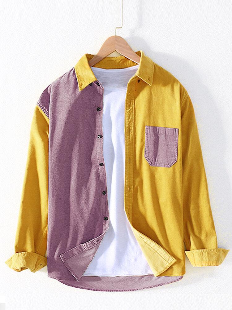 Mens Irregular Solid Color Breathable Trending Long Sleeve Cardigans Shirts - 7