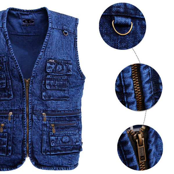 Fashion Business Plaid Waistcoat Suit Vest for Men - 3