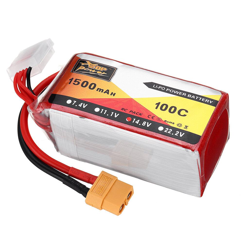 ZOP POWER 14.8V 1500mAH 100C 4S Lipo Batería Con enchufe XT60 para Eachine Wizard X220S FPV Racer RC Drone - 4