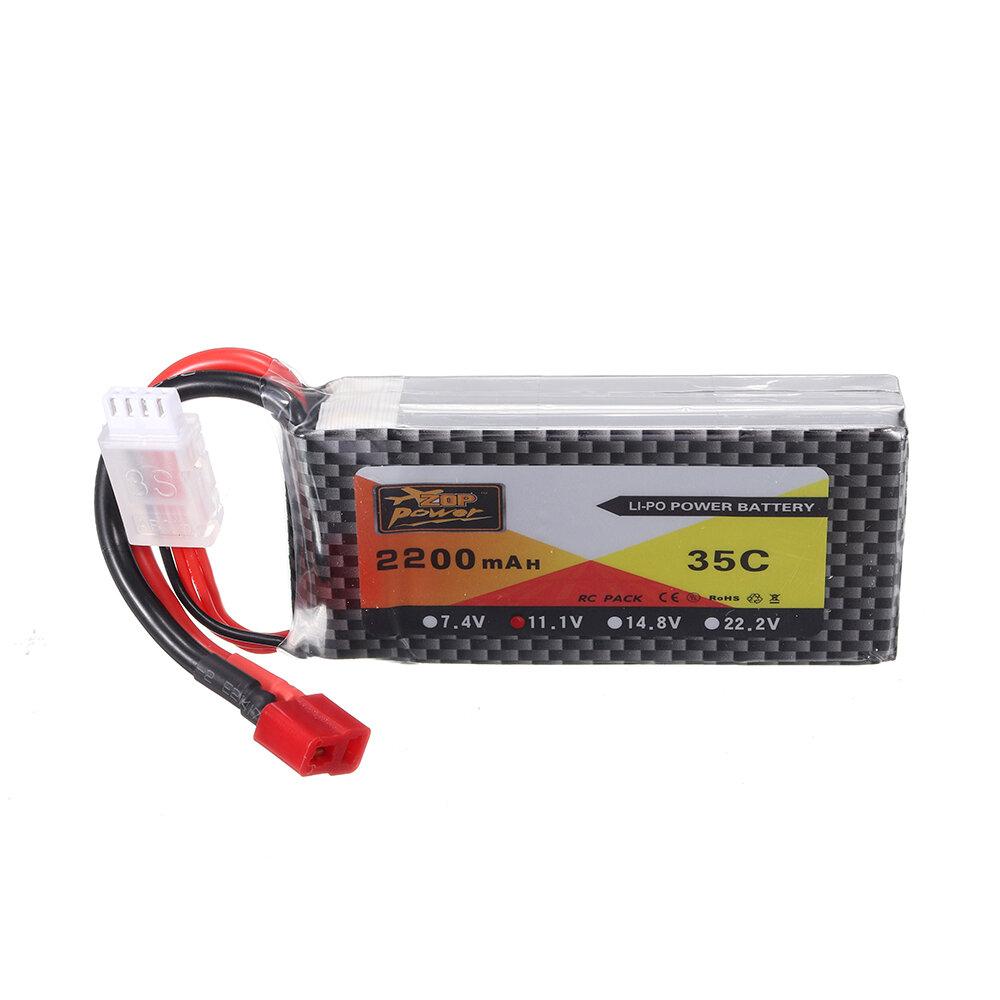 ZOP Power 11.1V 2200mAh 35C 3S Lipo Batería T Plug para modelos RC - 1
